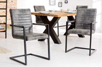 Stolička Imperial Vintage sivá