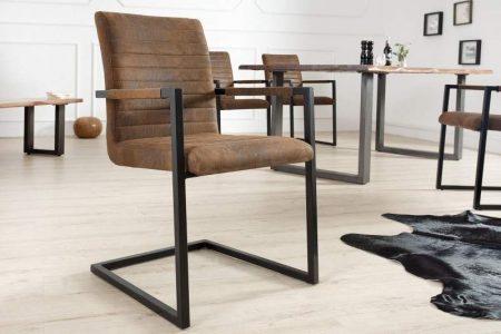 Stolička Imperial antik hnedá čierna