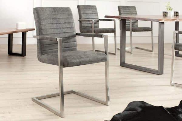 Stolička Imperial antik sivá