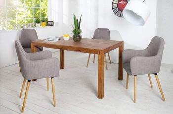 Stolička Oslo sivá dub