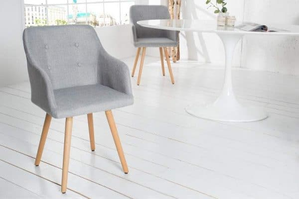 Svetlosivá jedálenská stolička Scandinavia