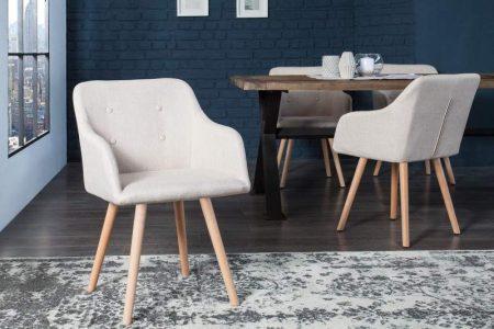 Svetlobéžová jedálenská stolička Scandinavia