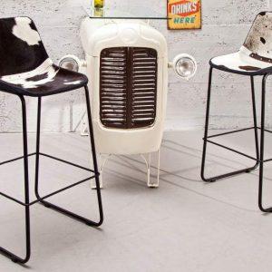 Barová stolička A-042 - čiernobiela
