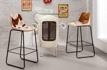 Barová stolička A-042 - hnedá biela