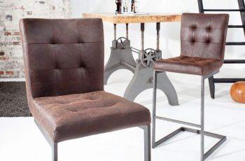 Barová stolička Rodeo hnedá Leder železo
