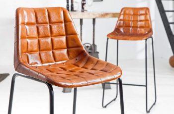 Barová stolička Taurus hnedá Leder železo