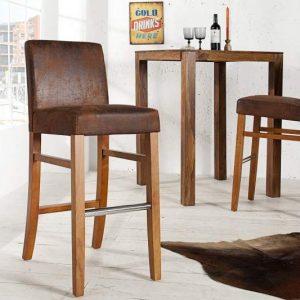 Barová stolička Valentino light coffee Vintage