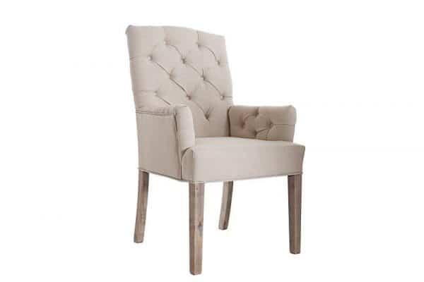 Béžová jedálenská stolička Castle »