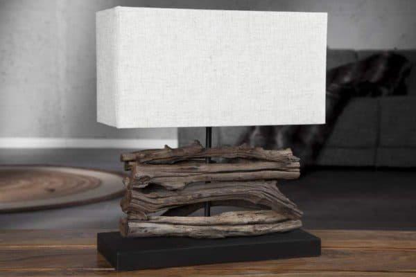 Béžová stolová lampa Perifere »