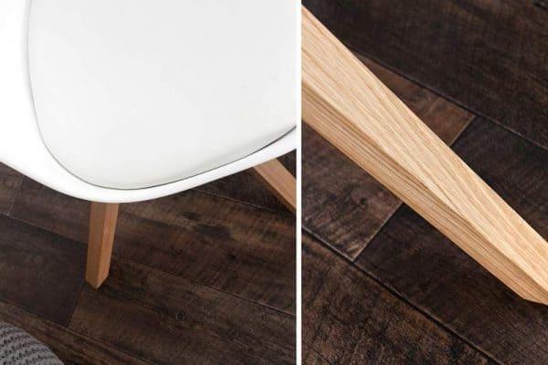 Biela jedálenská stolička Scandinavia »