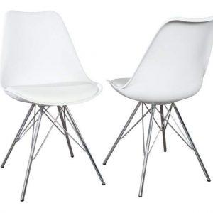 Biela jedálenská stolička Scandinavia Retro »