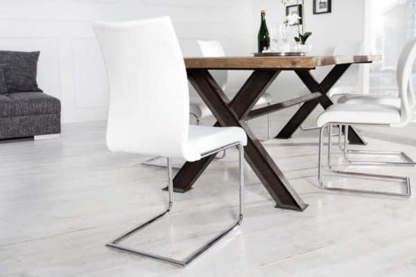 Biela jedálenská stolička Suave »