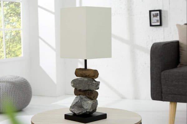 Biela stolová lampa Elements »