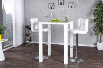 Biely barový stôl Lucente 80 x 80 cm »