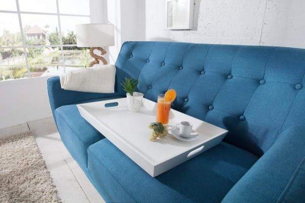 Biely drevený konferenčný stolík s podnosom Scandinavia 40 x 60 cm »
