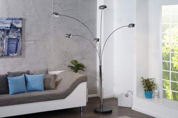 Chrómovaná stojanová lampa Five Lights »