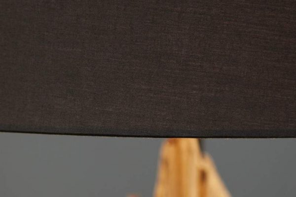 Čierna stojanová lampa z naplaveného dreva Rousilique 175 cm »