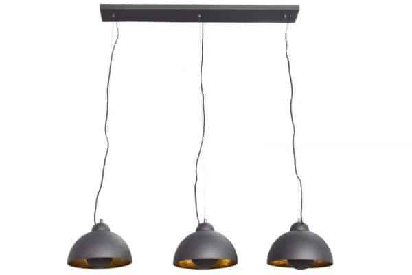 Čierno-zlatá závesná lampa Studio 3 »