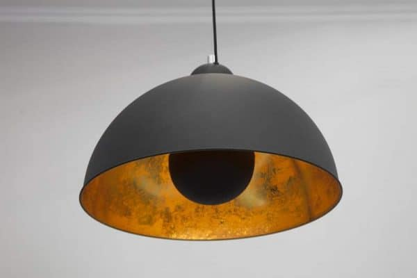 Čierno-zlatá závesná lampa Studio »