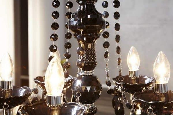 Čierny 15-ramenný luster Karat »