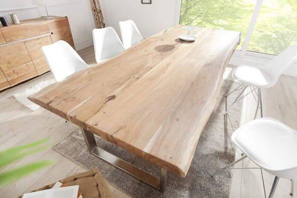 Drevený jedálenský stôl Mammut 100 x 200 cm - 60 mm »