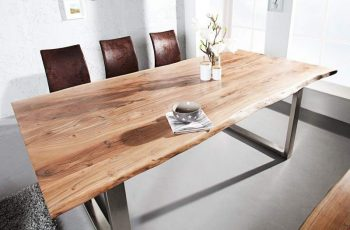 Drevený jedálenský stôl Mammut II 90 x 180 cm – 35 mm »