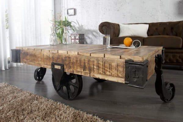 Drevený konferenčný stolík Railway 80 x 160 cm »