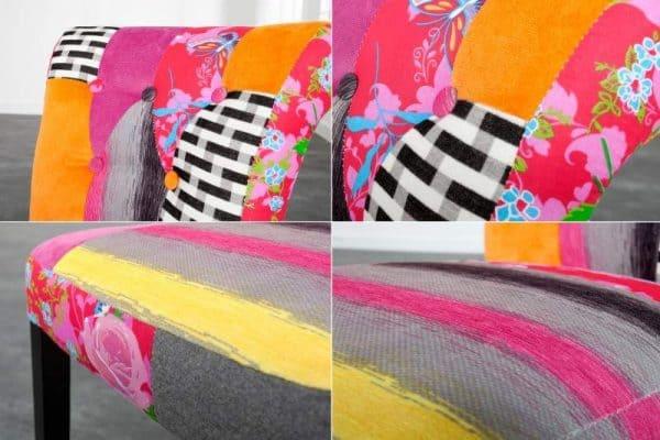 Farebná jedálenská stolička Ibiza II Patchwork  »