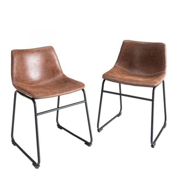 Hnedá jedálenská stolička Django »