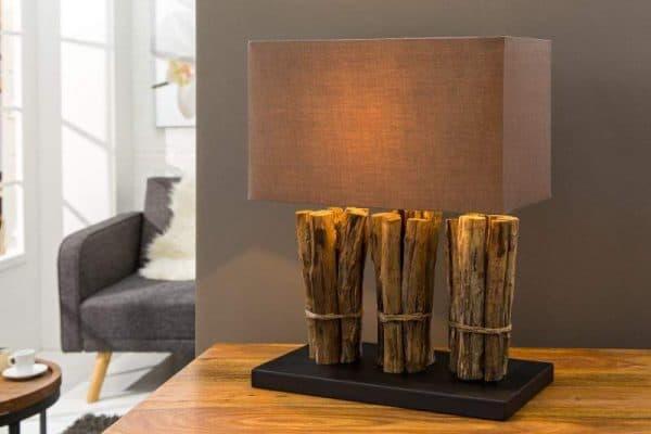 Hnedá stolová lampa Natural Life »