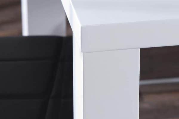 Jedálenský stôl Combo - biela vysokolesklá