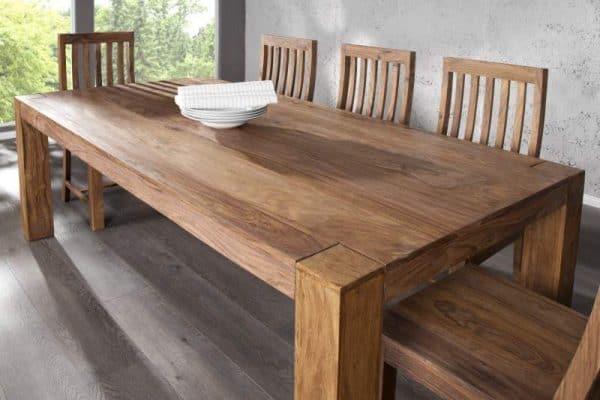 Drevený jedálenský stôl Makassar Sheesham 100 x 200cm
