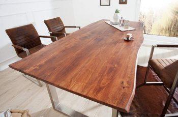 Jedálenský stôl Combo - prírodná hnedá