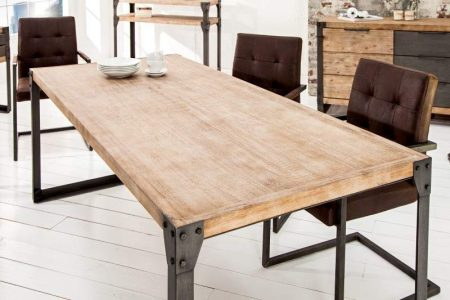 Industriálny jedálenský stôl Factory 90 x 160cm