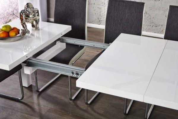 Jedálenský stôl Lucente biela 120-200cm