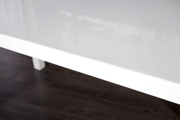 Jedálenský stôl Lucente II 120cm biela vysokolesklá