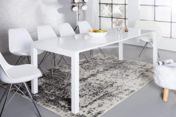 Jedálenský stôl Mezzo - biela vysokolesklá