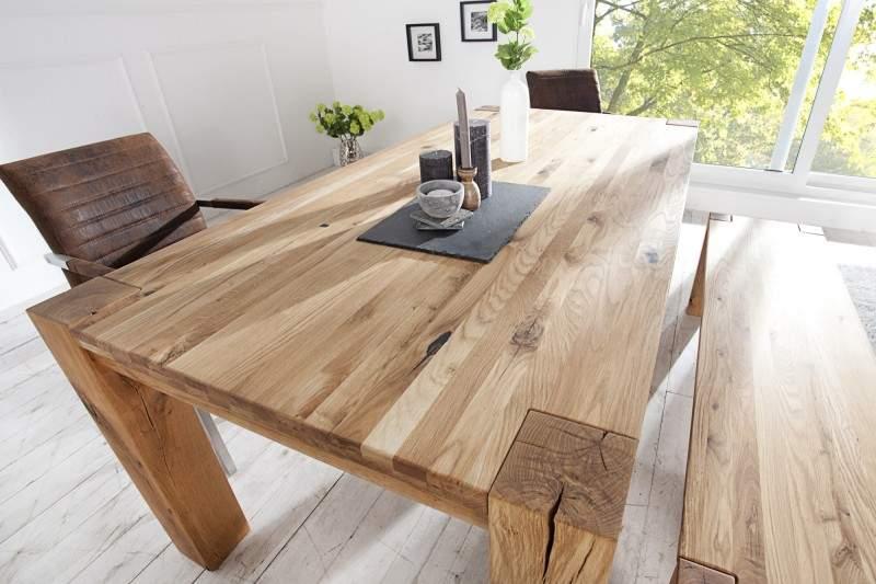 e60f7ced4231 Drevený jedálenský stôl Dub Masív 90 x 160 cm » » iKuchyne