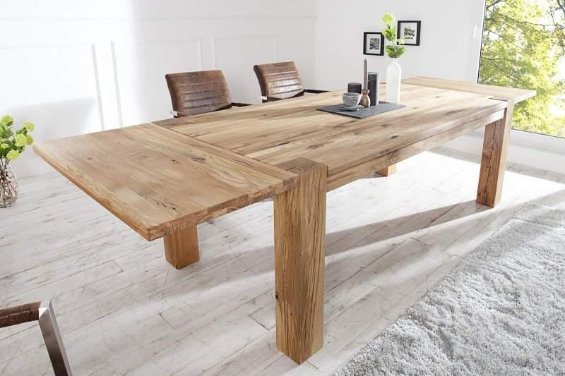 dc24f8767c44e Rozkladací jedálenský stôl Dub Masív 100 x 200-300 cm » » iKuchyne