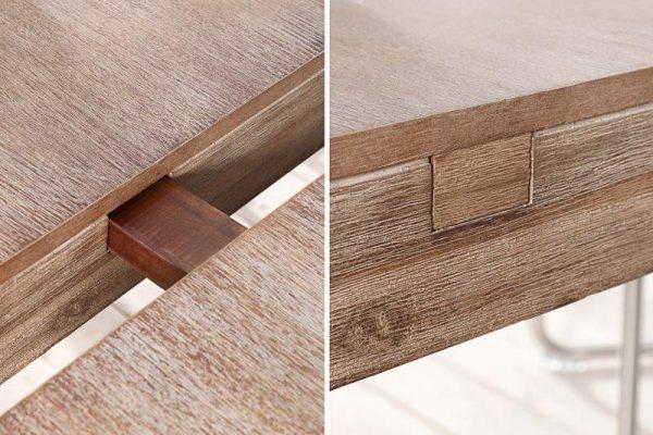 Jedálenský stôl Pure 120-200cm agát Teak šedý