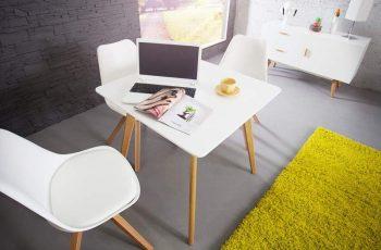 Jedálenský stôl Scandinavia 80cm biela