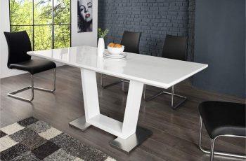 Jedálenský stôl Triumph 120-160cm biela