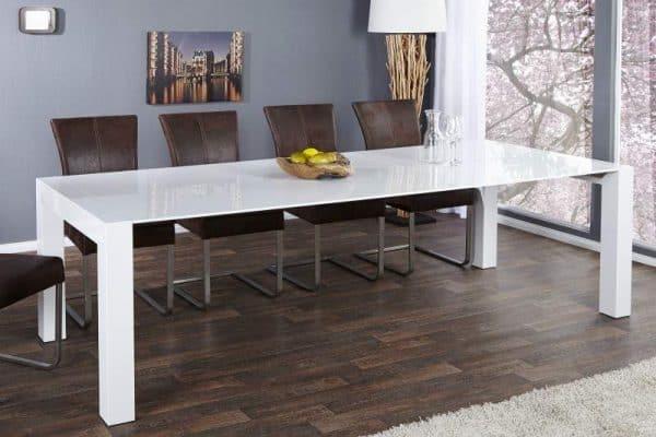 Jedálenský stôl X7 180-220-260cm biely