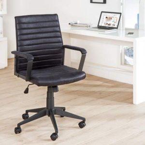 Kancelárska stolička Q-253 - čierna vintage