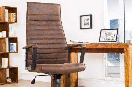 Kancelárska stolička Q-253 - hnedá vintage