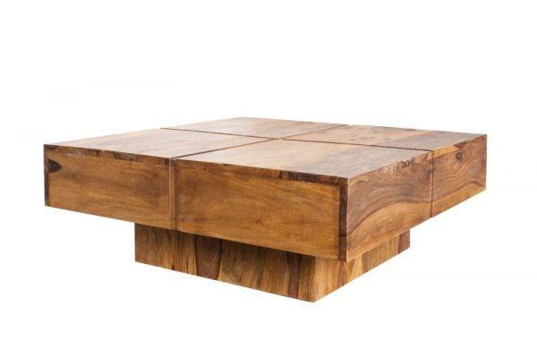 Konferenčný stolík Bolt 80cm sheesham