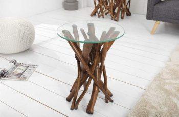 Konferenčný stolík Chesterfield 100cm - prírodná hnedá