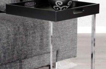 Konferenčný stolík Ciano čierna chróm m. stolík (podnos)