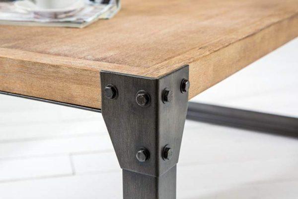 Konferenčný stolík Factory 110cm agát Teak šedý