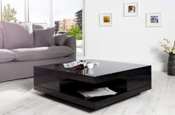 Konferenčný stolík Function - čierny vysokolesklý